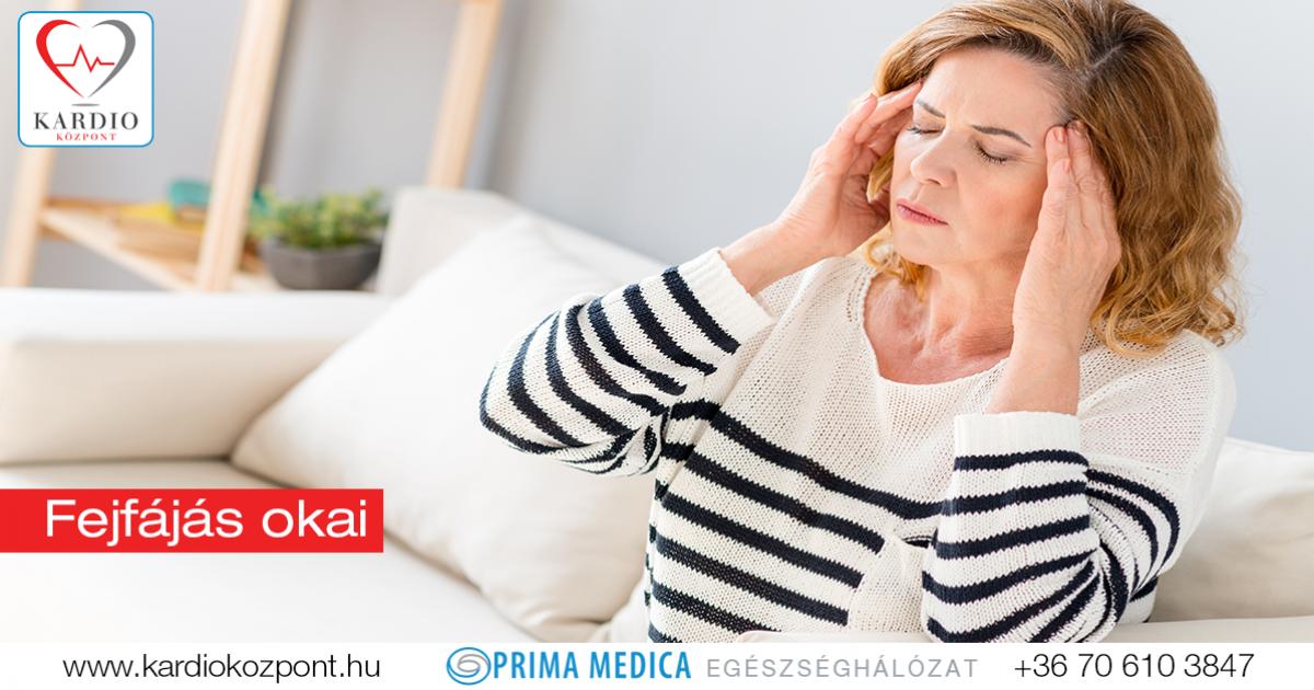 magas vérnyomásos fejfájás