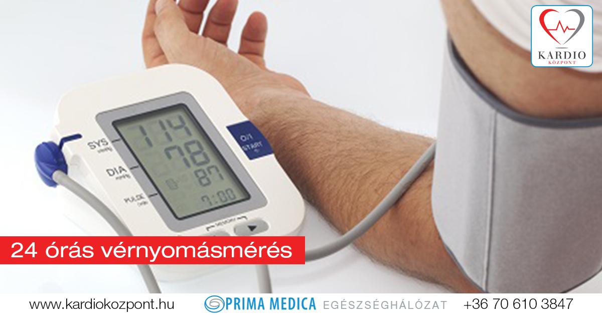 24 órás vérnyomásmérés
